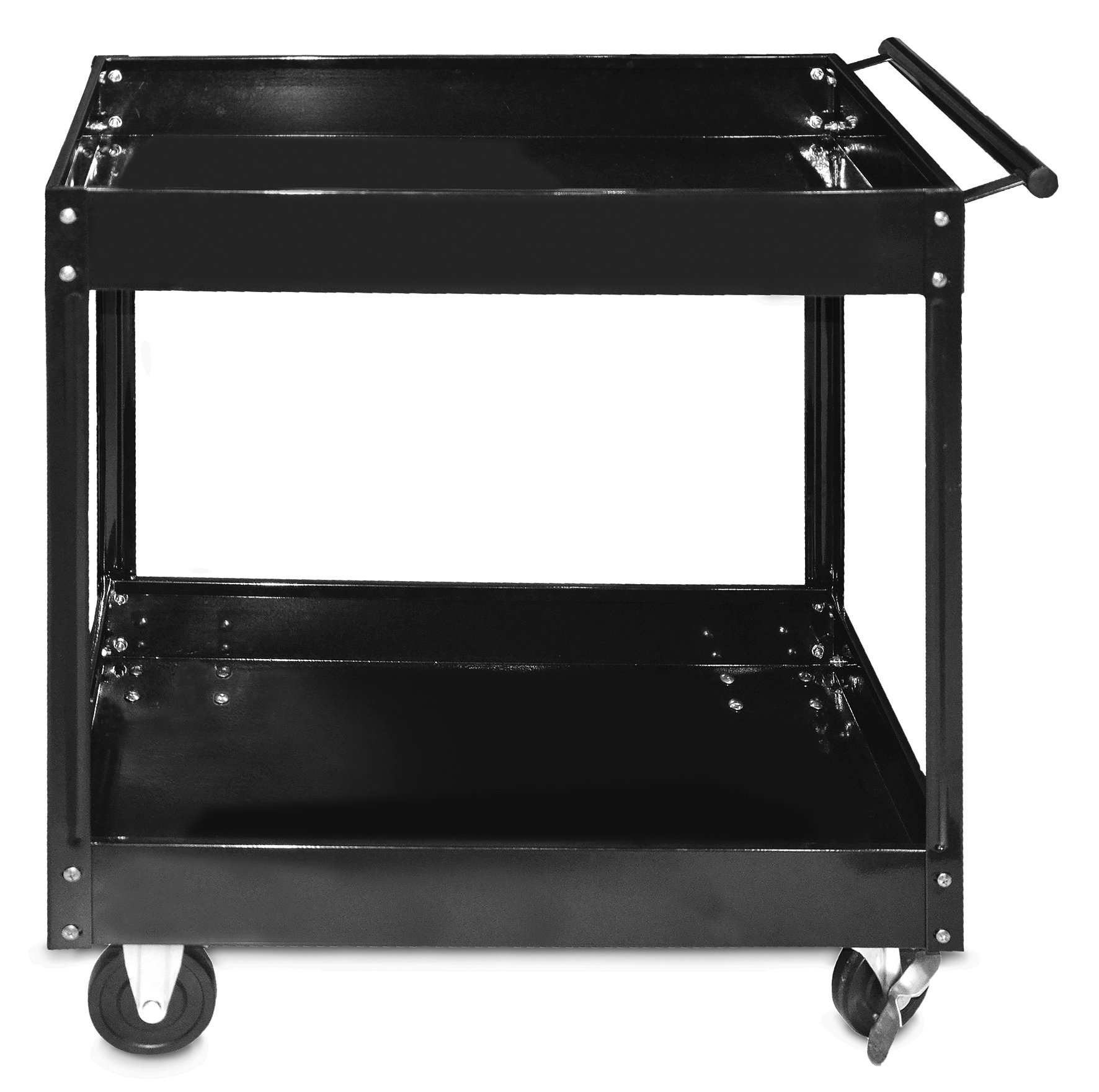 STEEL CORE 300 Lb 2-Shelf Steel Service Tool Cart, 30'' x 16''