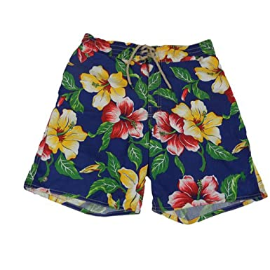 04f19b6957cfe Polo Ralph Lauren Men s Pony Logo Floral Hawaiian Print Swim Shorts ...