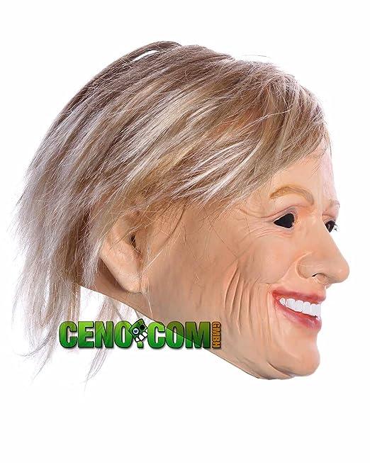 Clinton Máscara Hillary Clinton Traje de Carnaval Partido de látex Máscaras: Amazon.es: Juguetes y juegos