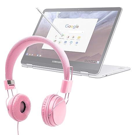 DURAGADGET Auriculares De Diadema Color Rosa para Portátil ...