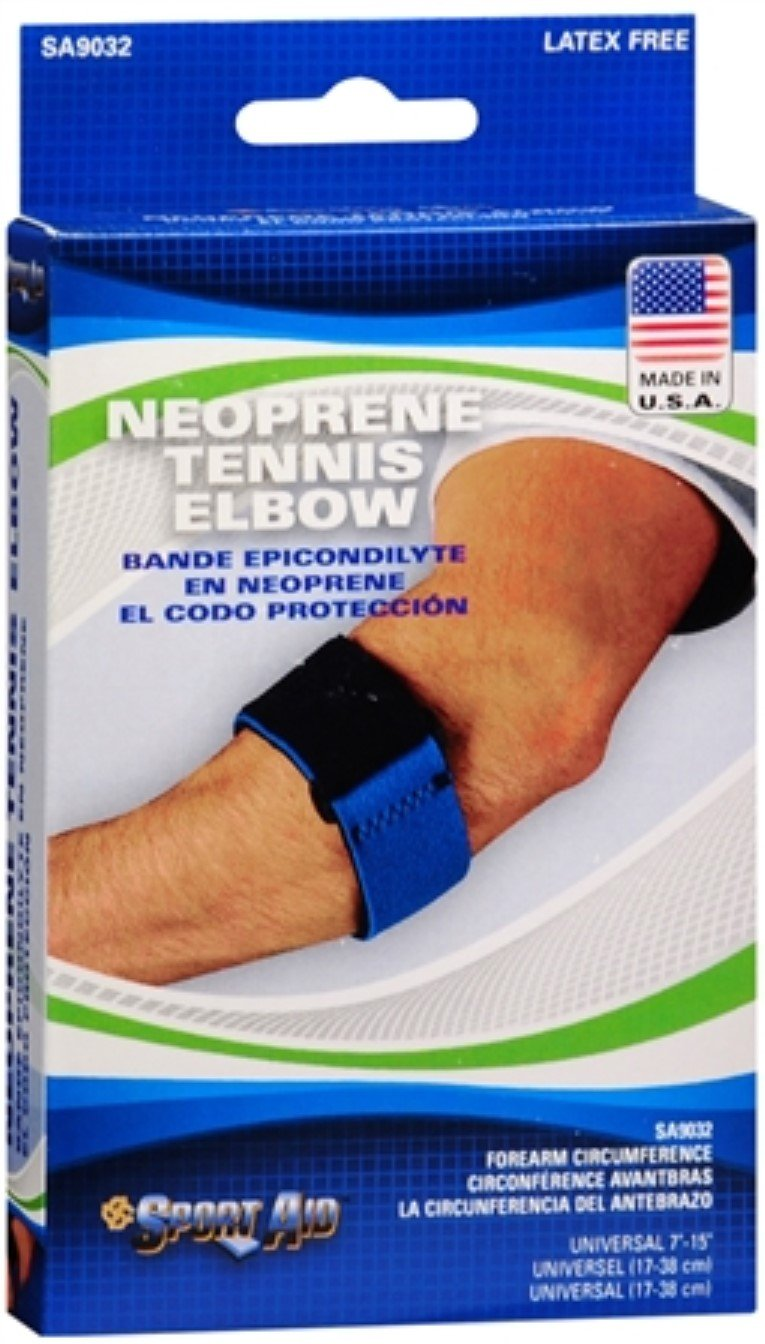 Sport Aid Neoprene Tennis Elbow Band 1 Each (Pack of 10) by SportAid