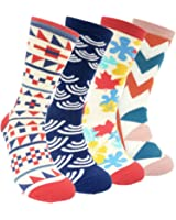 Mens Colorful Dress Socks Argyle – HSELL Men Multicolored Pattern Fashionable Fun Crew Socks 4 Pack