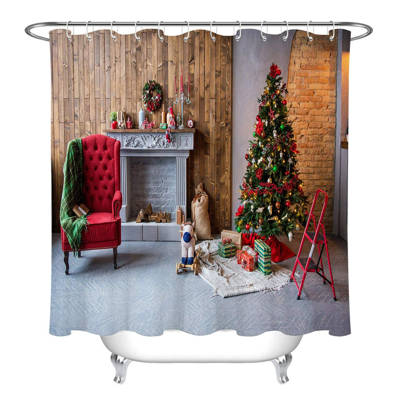 Amazoncom Youyoutang Xmas Tree Toy Fireplace Sofa