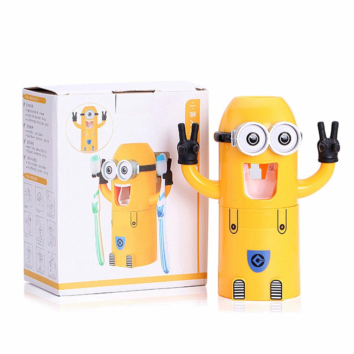 St@llion - Dispensador automático de Pasta de Dientes y Soporte para Cepillo de Dientes: Amazon.es: Hogar