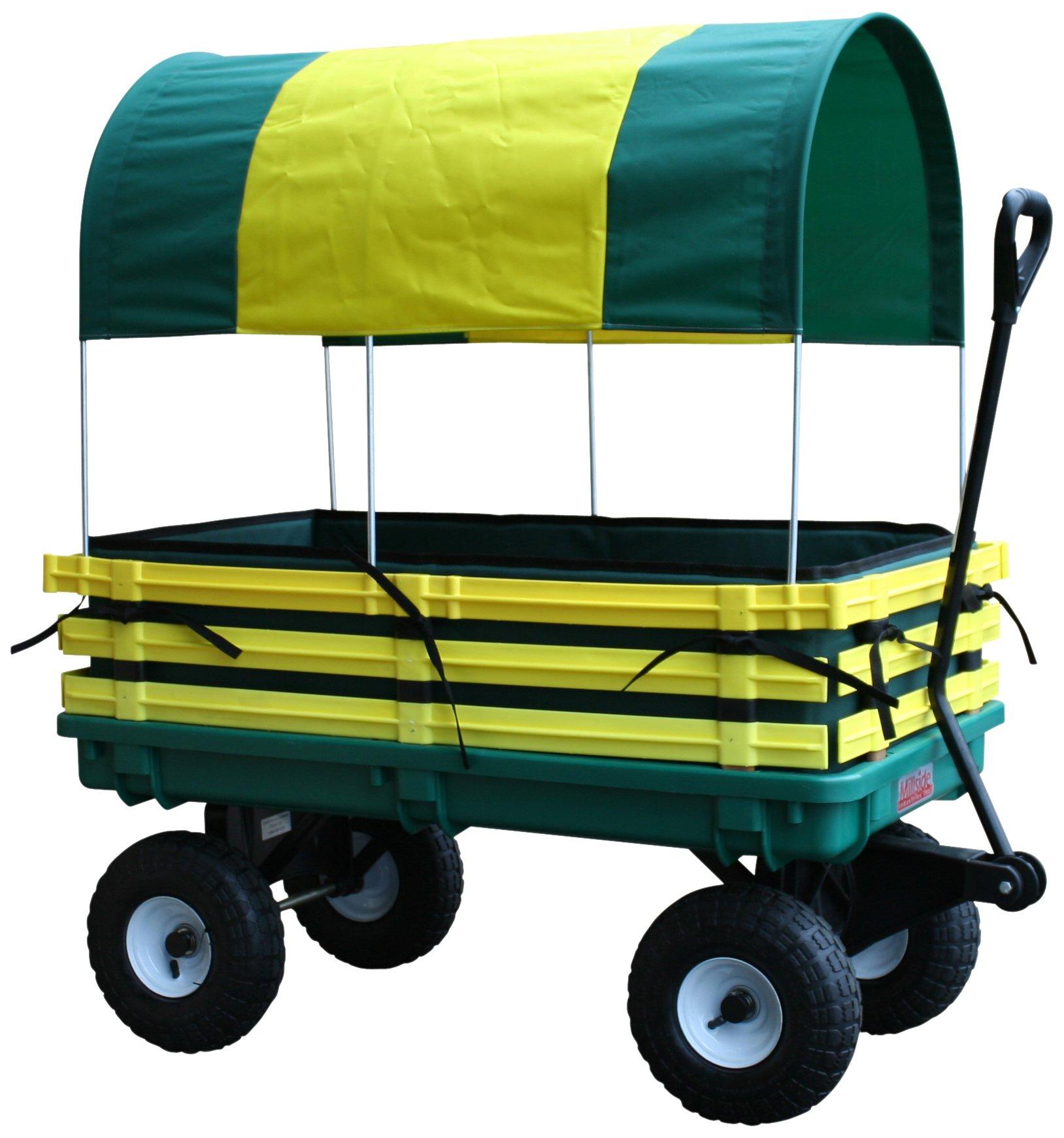 Millside Industries Trekker Wagon with Yellow Poly Rack Set