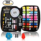 Kanggardo Sewing Kit Over 120 Premium Sewing Supplies | Mini Beginners/Travel/Emergency Sewing Kit | Spools of Thread Different Colors, Sewing Kit With Scissors, Needles, Nail Clipper and Much More
