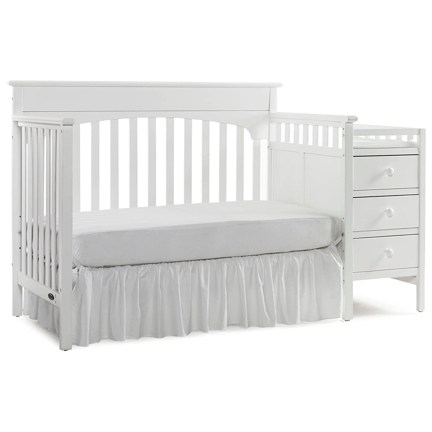 and toddler remi white cribs l furniture graco crib lauren signature bed baby charleston convertible in