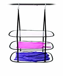Homz Sweater, Delicates, Swimsuit, 3 Tier Drying Surface, 10Lb Capacity Hanging Dryer Pack of 1