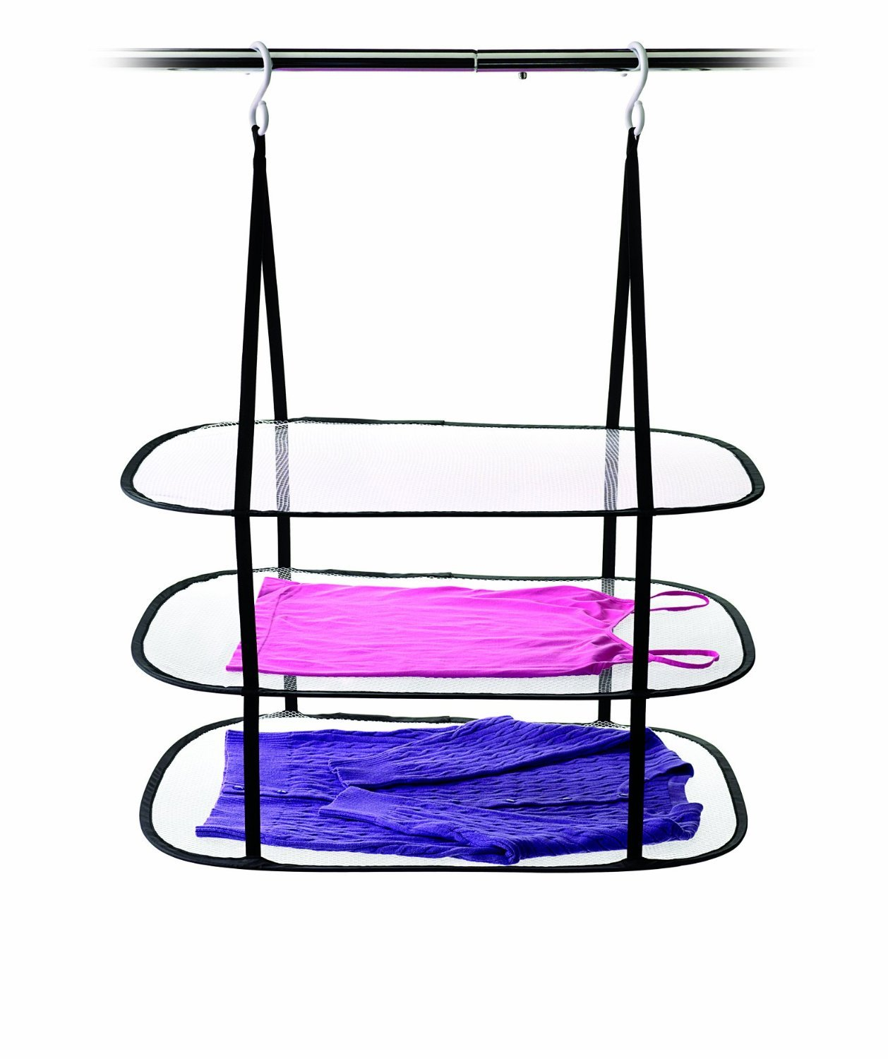 HOMZ Hanging Sweater/Delicates/Swimsuit Dryer, 3 Tier Drying Surface, 10Lb Capacity