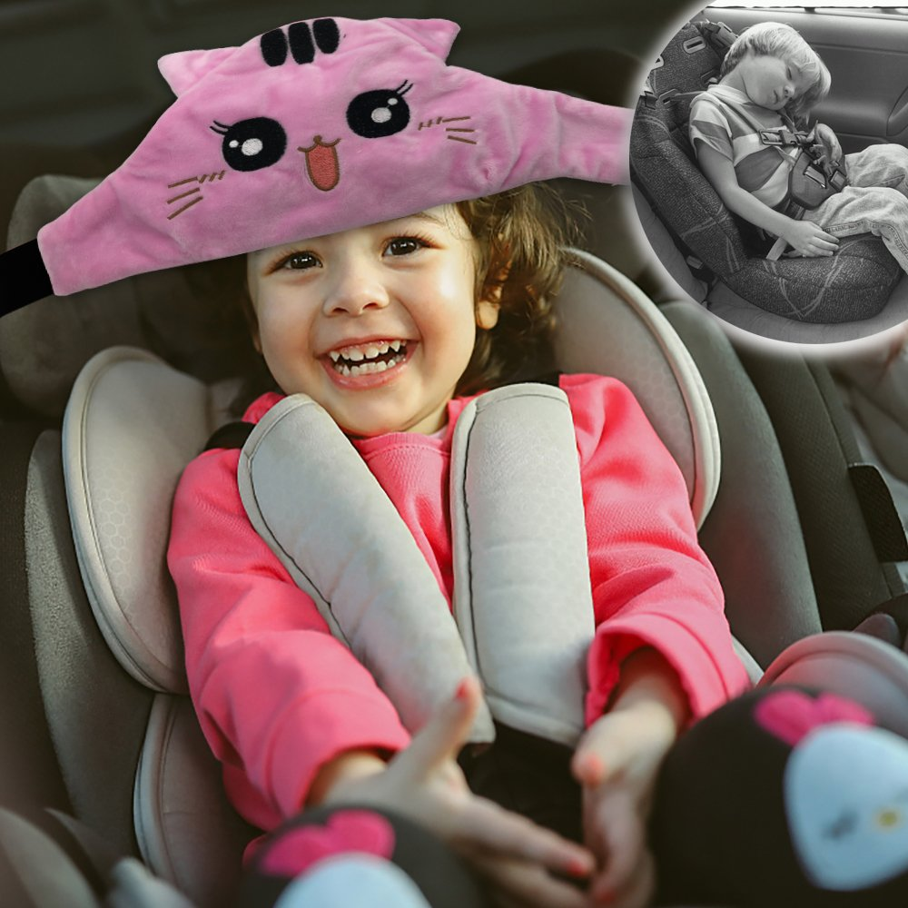 Morlike Toddler Child Sleeping Head Support(Pink)