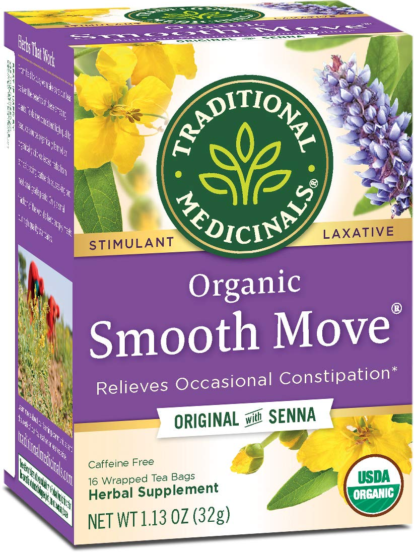 Traditional Medicinals Organic Smooth Move Laxative Tea, 16 Tea Bags (Pack of 6) by Traditional Medicinals