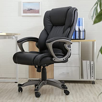 Belleze High Back Executive Office Chair Ergonomic Task Computer Swivel Tilt Lumber Support Faux Leather Desk & Amazon.com: Belleze High Back Executive Office Chair Ergonomic Task ...