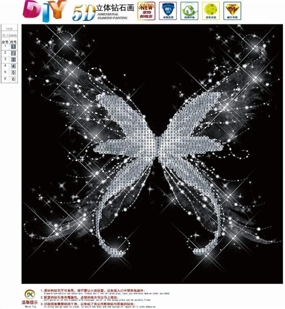 millenniums 5D Bricolage Diamant Peinture Fleur Peinture Abstraite Broderie Diamant Peinture Murale Point de Croix Peinture Kits DIY Needlework D/écoration Salon Chambre Artisanat D/écor /à la maison Cadeau 30X30CM