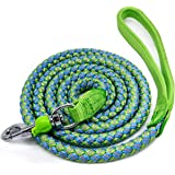 Mycicy Mountain Climbing Rope Dog Leash, 6 Foot Reflective Nylon Braided Heavy Duty Dog Training Leash for Large and…