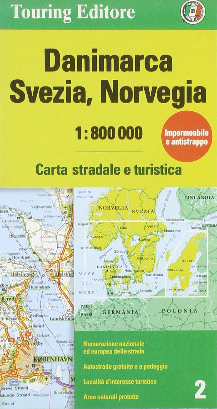 Cartina Norvegia Stradale.Amazon It Danimarca Svezia Norvegia 1 800 000 Carta Stradale E Turistica Ediz Illustrata Libri