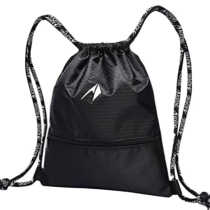162fd543a8e4 AoFeng Drawstring Basketball Bag String Backpacks Sport Gym Sack Light  Weight Travel Bag Drawstring Sacks Athletic