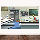 Science Backdrop Banner Supplies Science Photography Background Wall Decor Laboratory Theme Party Birthday Party School…