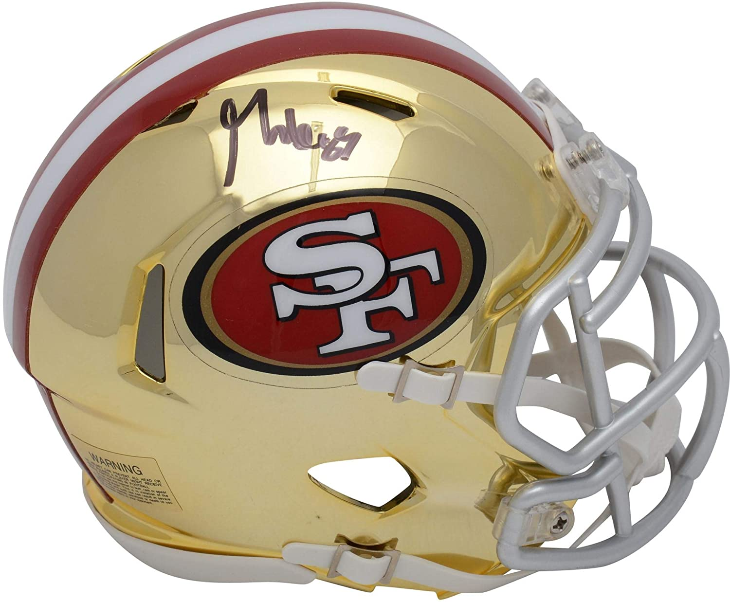 9f3d10ef3 Amazon.com: George Kittle San Francisco 49ers Autographed Riddell Chrome  Alternate Speed Mini Helmet - Fanatics Authentic Certified: Sports  Collectibles