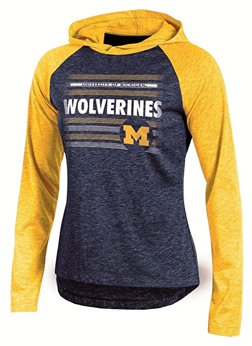 """cce5fde49 Image Unavailable. Image not available for. Color: Michigan Wolverines  Women's NCAA Champion """"Pride"""" Long Sleeve Hooded Shirt"""