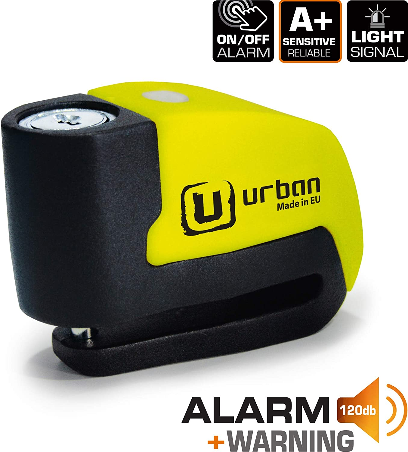 Urban Security UR6 Candado Antirrobo Disco con Alarma+Warning ...