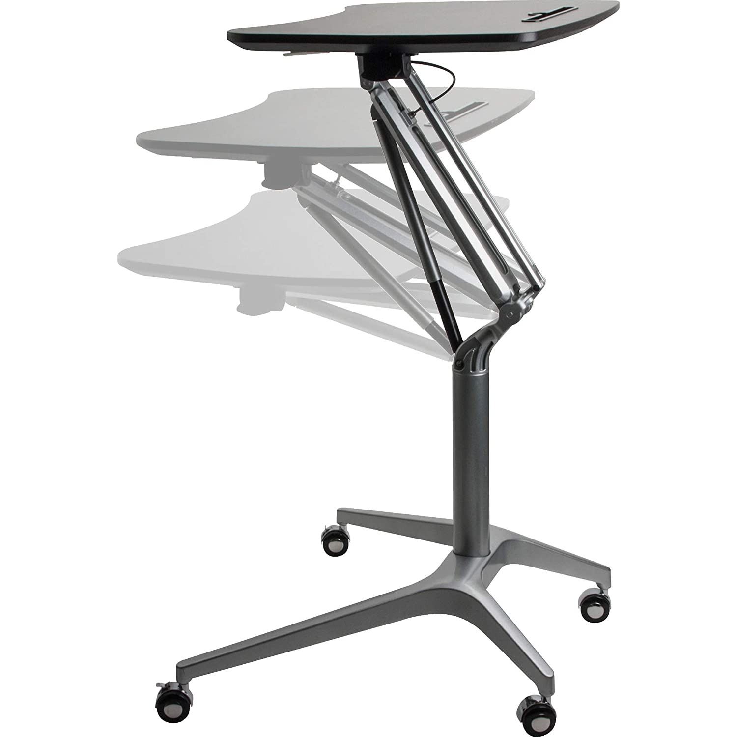 Lorell Active Office Laptop Table, Powder Coated,Black