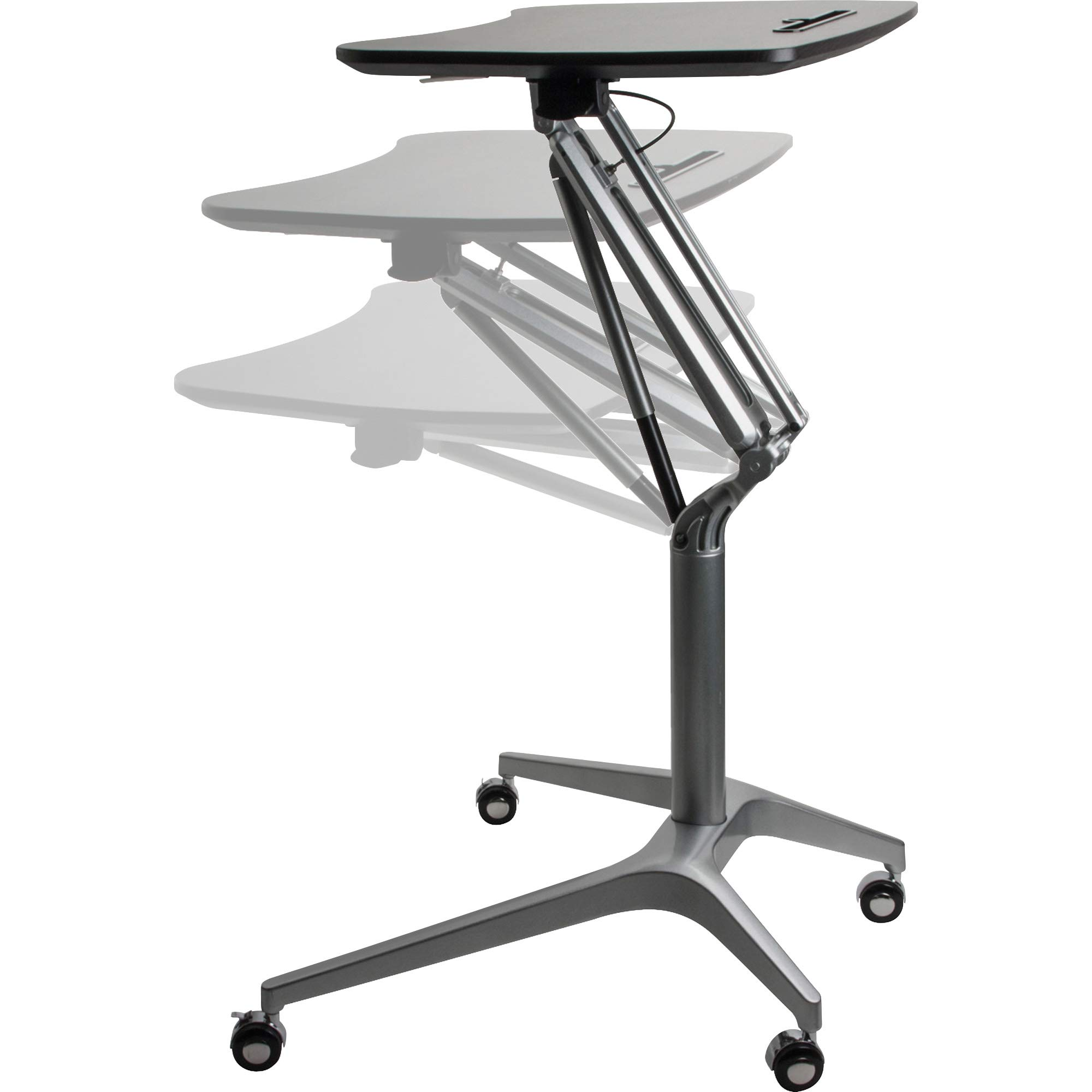 Lorell 84838 Active Office Laptop Table, Powder Coated,Black