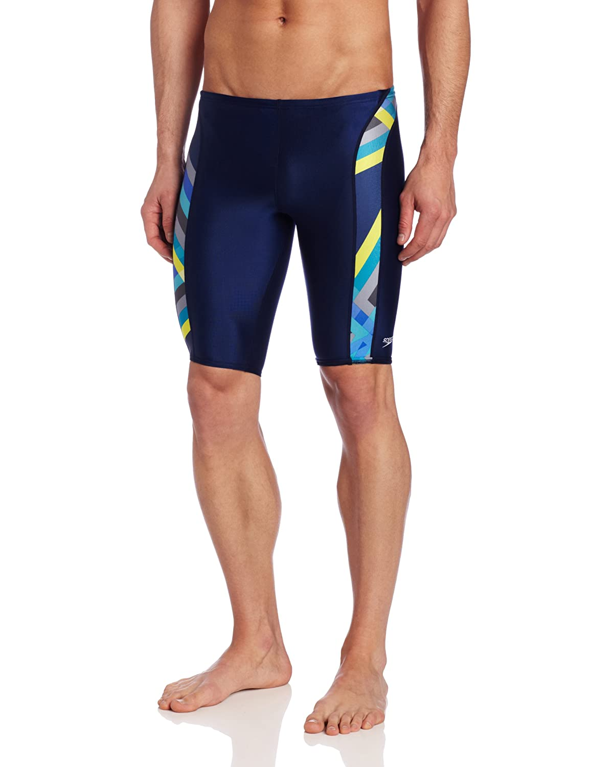 Speedo Men's Laser Stripe Jammer Swimsuit 8051375