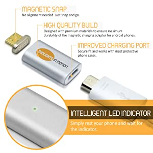 Thoughts in Motion Micro USB To Magnetic Charger Adapter