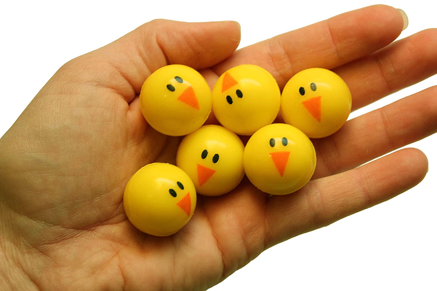 Small Novelty Prize Toy Bulk 4 Dozen Party Favors Gift Curious Minds Busy Bags 48 Cute Chick Bouncy Balls Easter