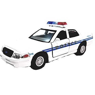 Kinsmart Ford Crown Victoria White Training Police Dept Squad Car 1/42 O Scale Diecast Interceptor: Toys & Games