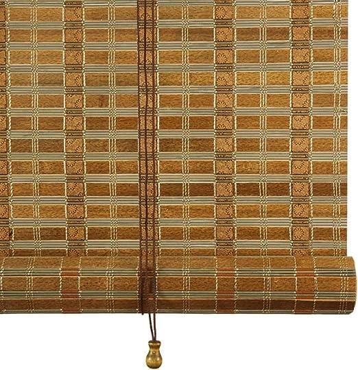 LXLA - Persianas for el Rodillo de bambú de la glorieta del Comedor en el hogar, persianas de Parasol de 100 cm / 120 cm / 130 cm / 14 cm /