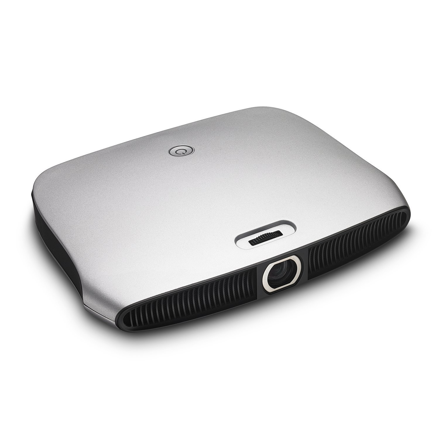 Zenbility V8Plus 4K 3D Portable Slim Mini DLP Projector, 64 Bit Architecture, Quad Core Processor, Android, Built-in Rechargeable Battery, Wifi, Bluetooth, for Home Theater, Presentations, w/ Remote