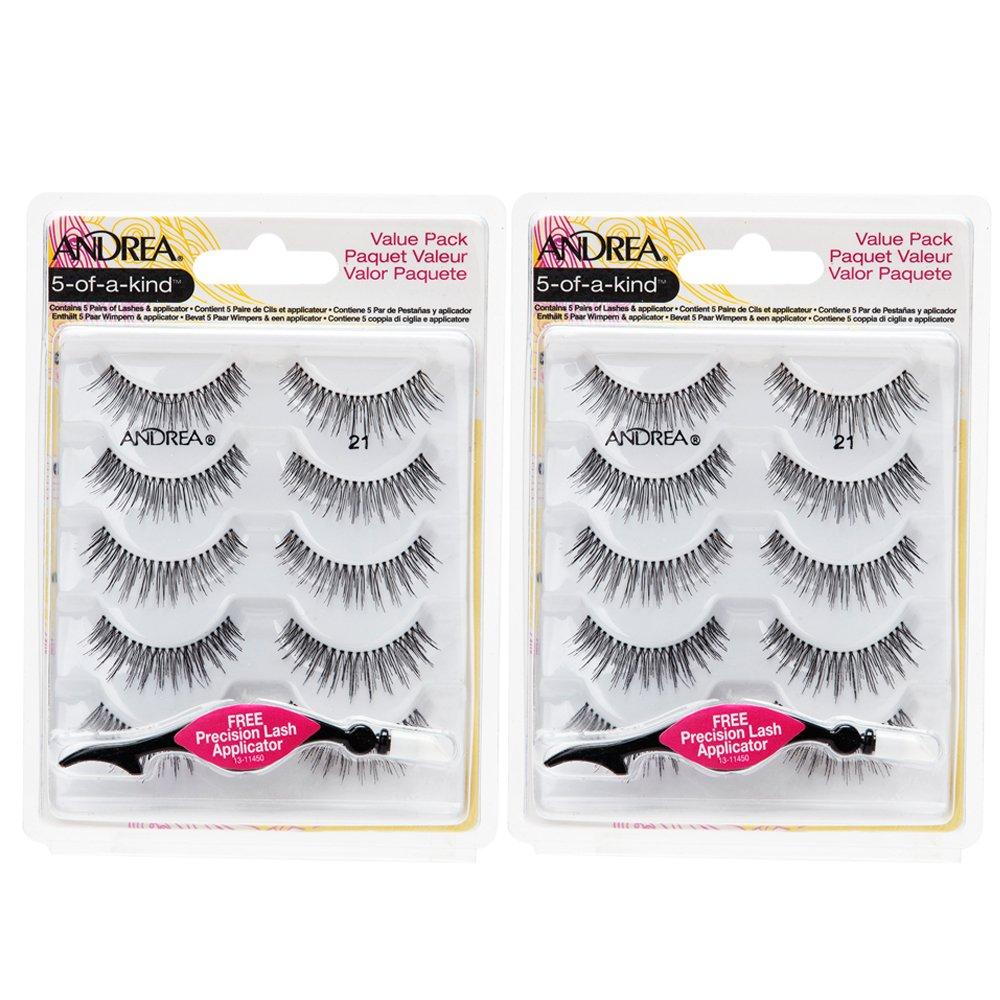 Andrea False Individual Eye Lash Set Multi Pack 21 With Eyelash Applicator 2 Pack