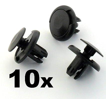 10 x Remaches Plásticos - Clips Cierre Plastico Guarnición Tapa Paragolpes 91501-S 04-