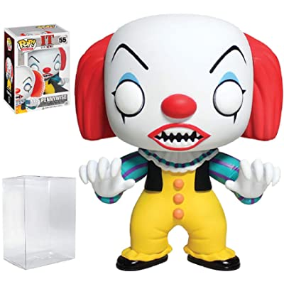 Funko Pop! Movies: Stephen King's It - Pennywise Clown Vinyl Figure (Includes Compatible Pop Box Protector Case): Toys & Games