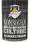 Fermentaholics Kombucha SCOBY With Twelve Ounces of Starter Tea | Live Starter Culture | Makes One Gallon Batch | One and a Half Cups of Starter Tea