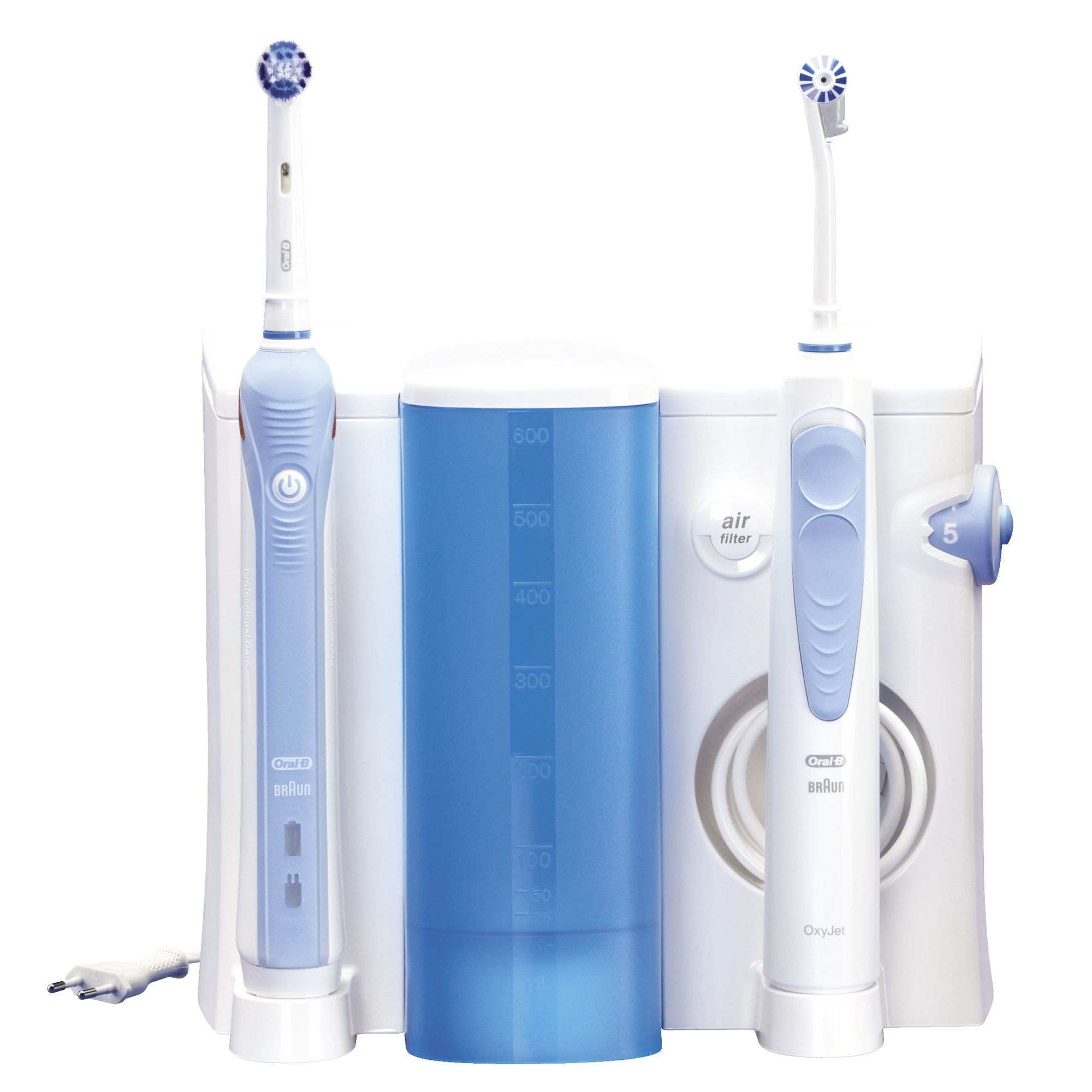 Oral-B OC20525 - Cepillo de dientes electrico recargable y irrigador bucal, color blanco