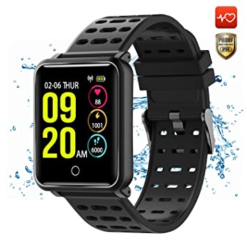 CanMixs CM05 Montre Connectée SmartWatch IP68 Étanche Écran Tactile Bracelet Fitness Tracker Bracelet Activité avec Moniteur