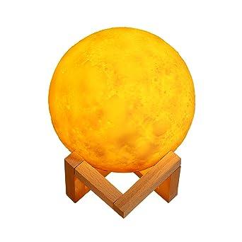 Luz de la luna LED 3d impresión luna lámpara Moon globo luz ...