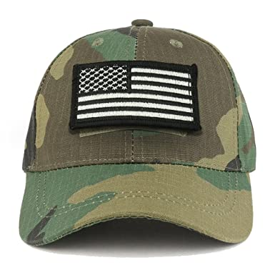 Trendy Apparel Shop Youth Military Black White American Flag Patch On Tactical  Cap - BDU 8ee8fd81615