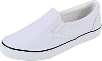 Womens Slip On Loafers Shoes Canvas Upper