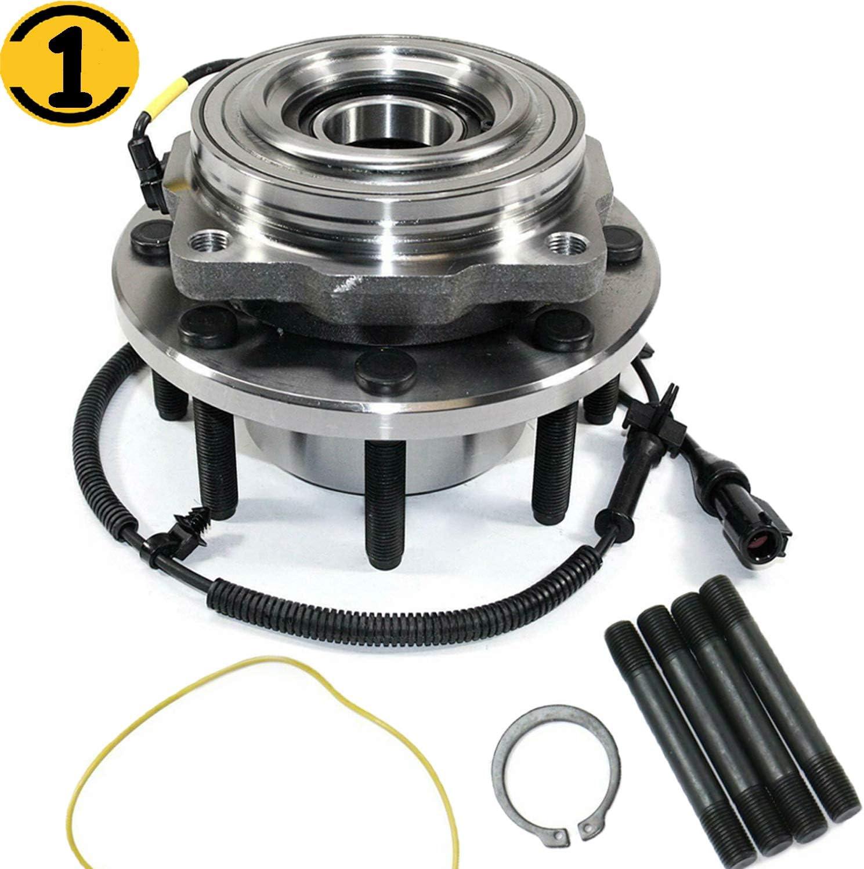 Front Wheel Bearing Hub Assembly Fit Ford F-250 F-350 F-450 F-550 Super Duty Hub Bearing w//ABS w//8 Lugs Fit Single Rear Wheel 4x4 MotorbyMotor Replace 515081 4WD