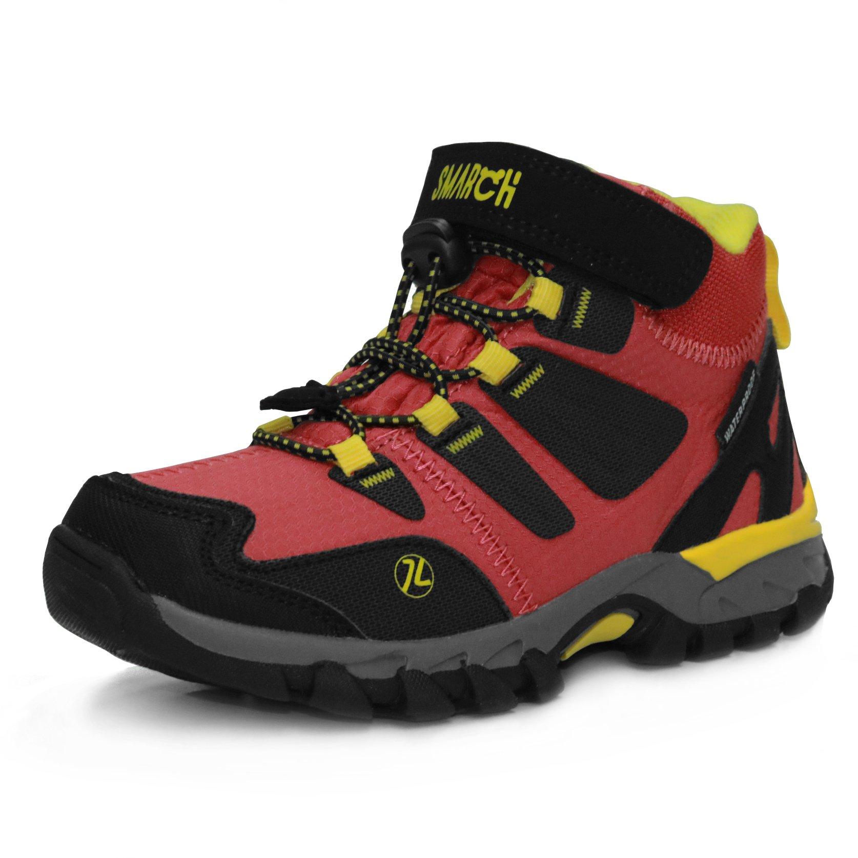 GRITION Mid Kids Outdoor Hiking Trekking Boots Boys Girls Hook and Loop  Winter Walking Boots School Shoes Waterproof Anti Slip Climbing Boots  Unisex Kids Size EU 28-35- Buy Online in Dominica at