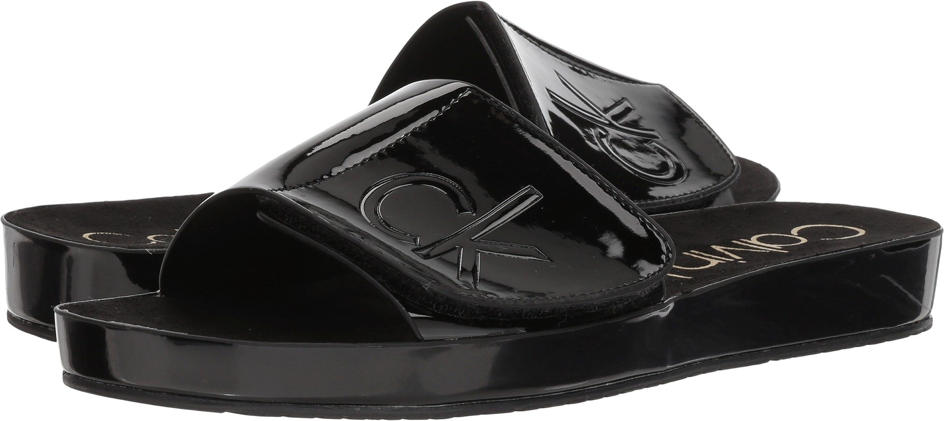 e20f51cfb5b75 Galleon - Calvin Klein Women's Marlina Flat Sandal (6, Black)
