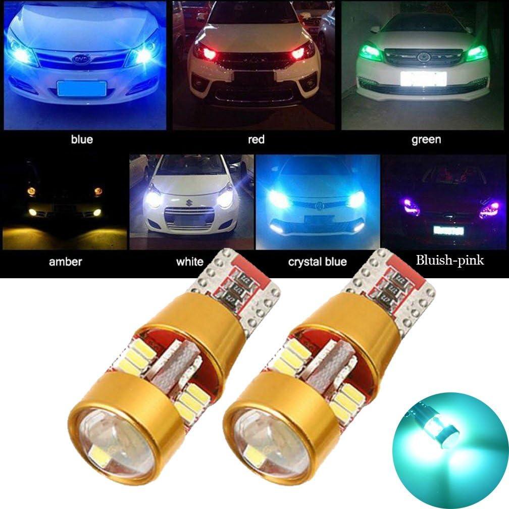 Tuincyn T10 W5W 3014 27 SMD Wei/ße LED-Lampe 2er-Set R/ücklichter makelloses Canbus-Ecklicht f/ür externe Seitenblinker Bremslichter Standlicht .