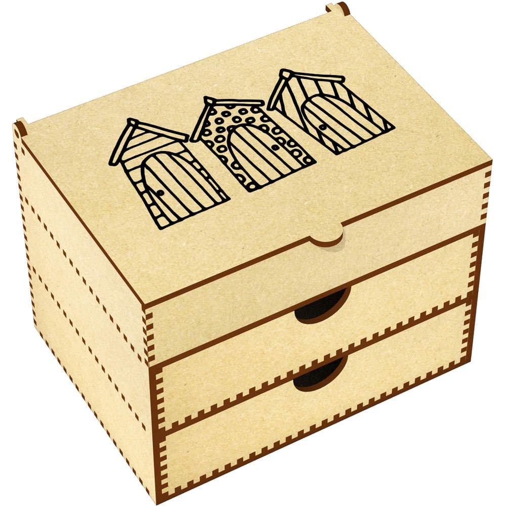 Azeeda 'Beach Huts' Vanity Case / Makeup Box (VC00002255)