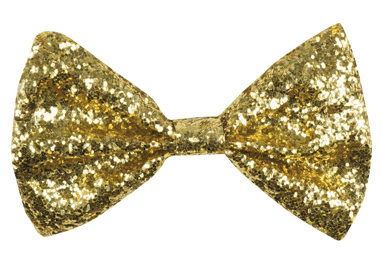 Boland 53110 Bow Tie Glitter, Gold, One Size