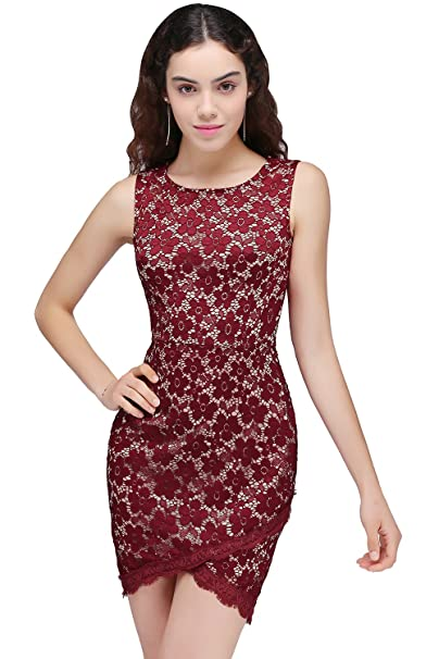 MisShow Women s Sleeveless Lace Applique Short Cocktail Party Homecoming  Dresses at Amazon Women s Clothing store  f517d6defd