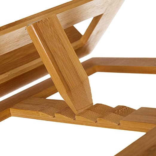 Soporte para libros en bambu natural plegable atril 26x33x22