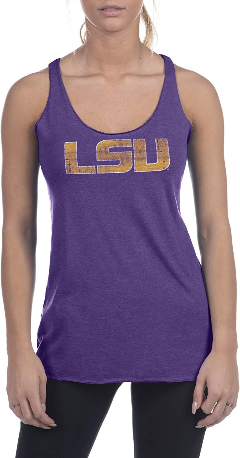 Top of the World NCAA Womens Trim Modern Fit Premium Triblend Racerback Team Color Icon Tank Top